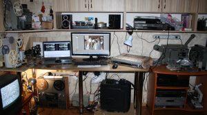 Фрагмент студийной площадки, оцифровка и монтаж кино