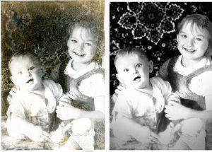 Реставрация поврежденной фотографии - стоимость от 1000 руб.